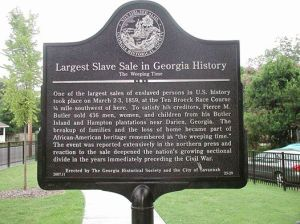 The Weeping Time Marker in Savannah, GA in the Gullah/Geechee Nation