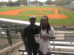 Queen Quet & Kwame Sha at Charleston RiverDogs Stadium