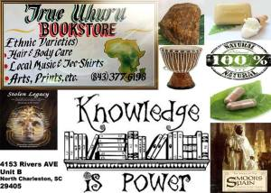 Uhuru Books in North Charleston, SC in the Gullah/Geechee Nation