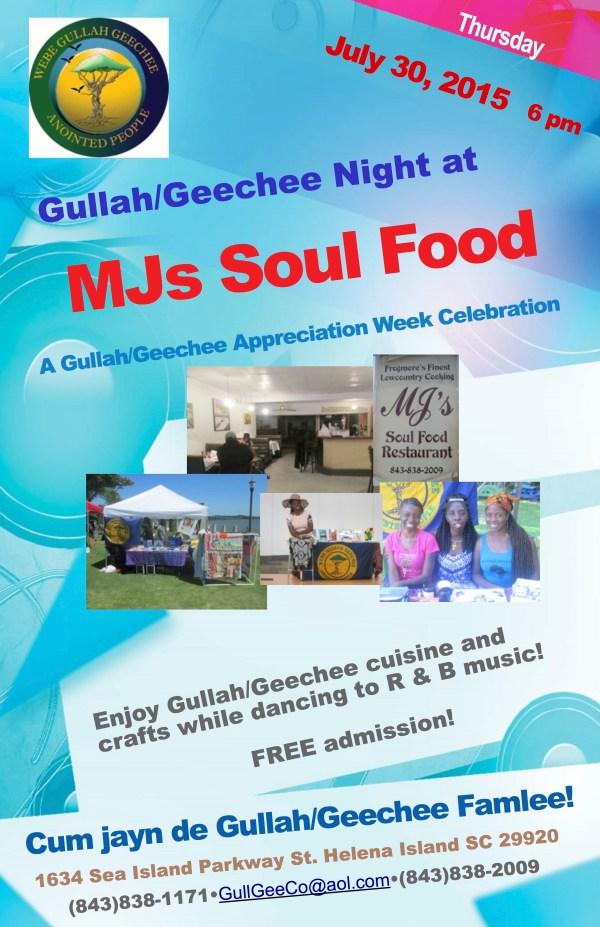 Gullah:Geechee Night at MJs Soul Food