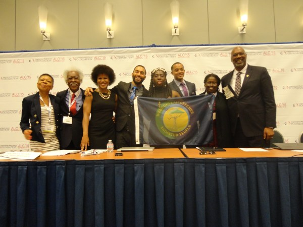 Audrey & Frank Peterman, Majora Carter, Jarid Manos, Queen Quet (www.QueenQuet.com), Dorien Paul Blythers, Jacqui Patterson, and Aaron Muir at the Congressional Black Caucus Foundation Conference 2015.