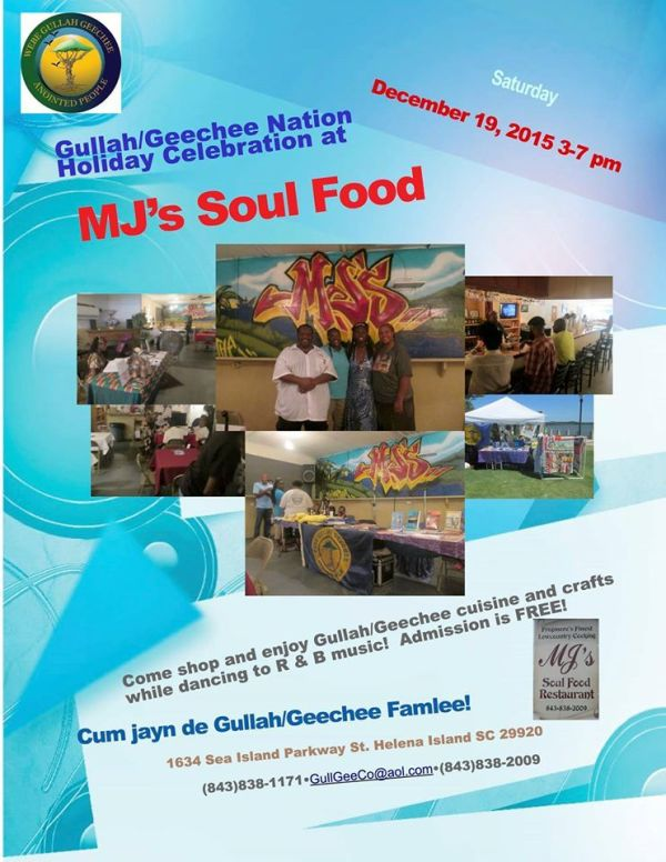 Gullah:Geechee Holiday at MJs