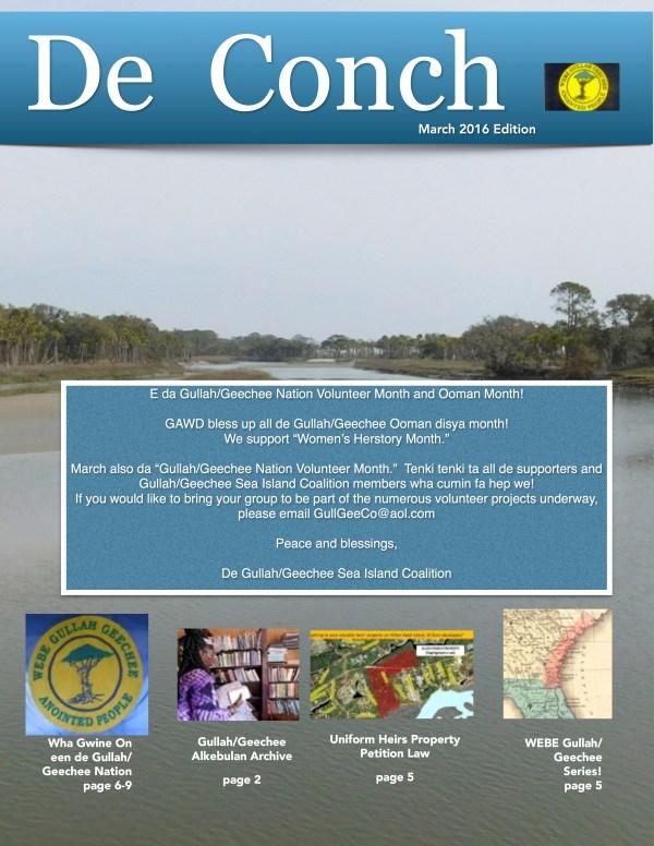 De Conch March 2016 Edition Cover Image