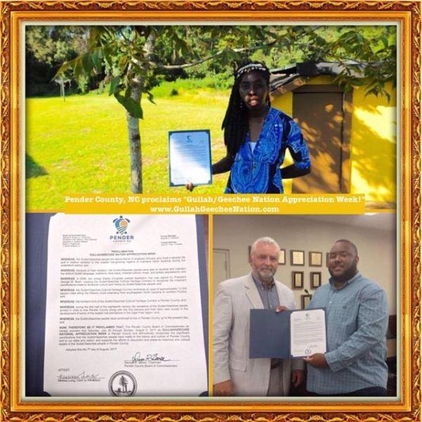 Pender County Proclaims Gullah/Geechee Nation Appreciation Week