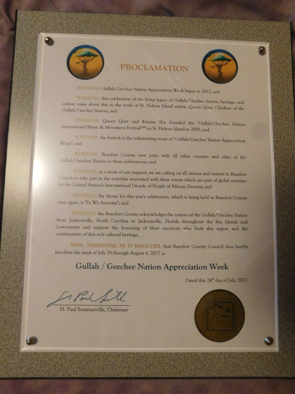 Beaufort County Proclaims Gullah/Geechee Nation Appreciation Week