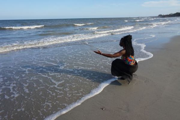 Queen Quet at the Ocean