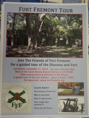 Fort Fremont Monthly Tour Flyer
