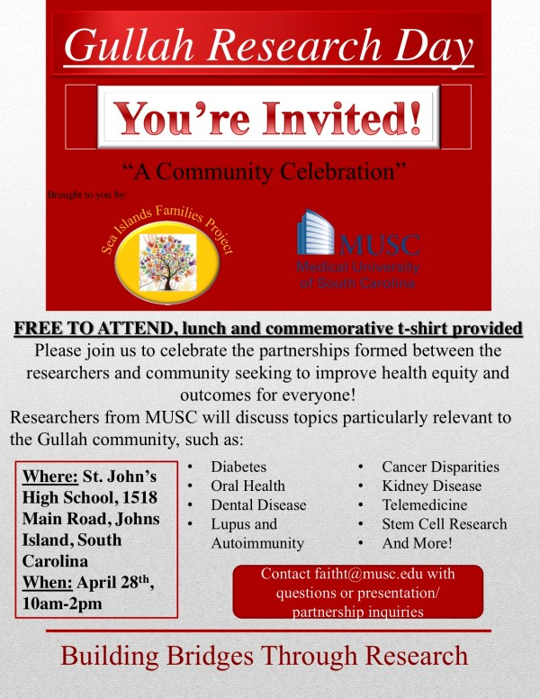 Gullah Research Day Invitation Flyer