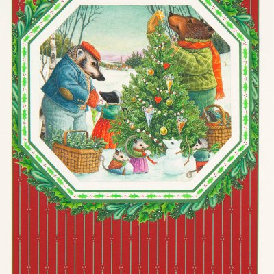 Decorating the tree por Lynn Bywaters