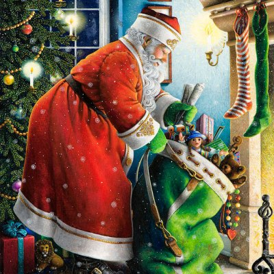 Filling the stockings por Lynn Bywaters