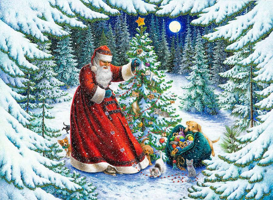 Santas little helpers por Lynn Bywaters