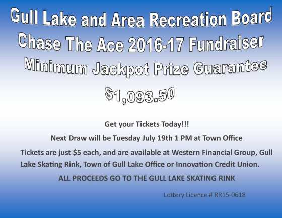 Gwenda Ellis Wins this Weeks Chase the Ace Draw GULL LAKE  Gull Lake Recreation Complex