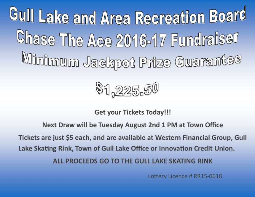 Alvin Berger Wins this Weeks Chase the Ace Draw GULL LAKE SouthWest Saskatchewan  Gull Lake Recreation Complex