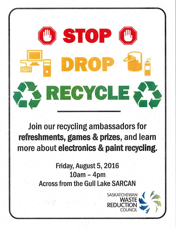 STOP  DROP  RECYCLE Event in Gull Lake Education GULL LAKE  Environment