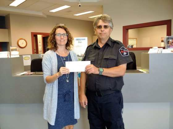 Innovation Credit Union Staff Make Donation to Gull Lake Ambulance Service Business GULL LAKE Health & Wellness  Gull Lake Ambulance Service Community
