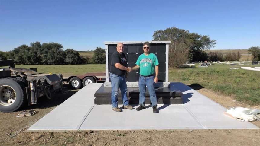 Gull Lake Cemetery Columbarium Arrives Business Government GULL LAKE  Town Council Mayor's Report Cemetery Committee