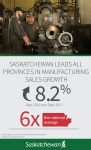 FEBRUARY MANUFACTURING SALES NEARLY FOUR TIMES THE NATIONAL AVERAGE  Economic Development Government  Statistics Canada Saskatchewan Manufacturing Government of Saskatchewan Canada