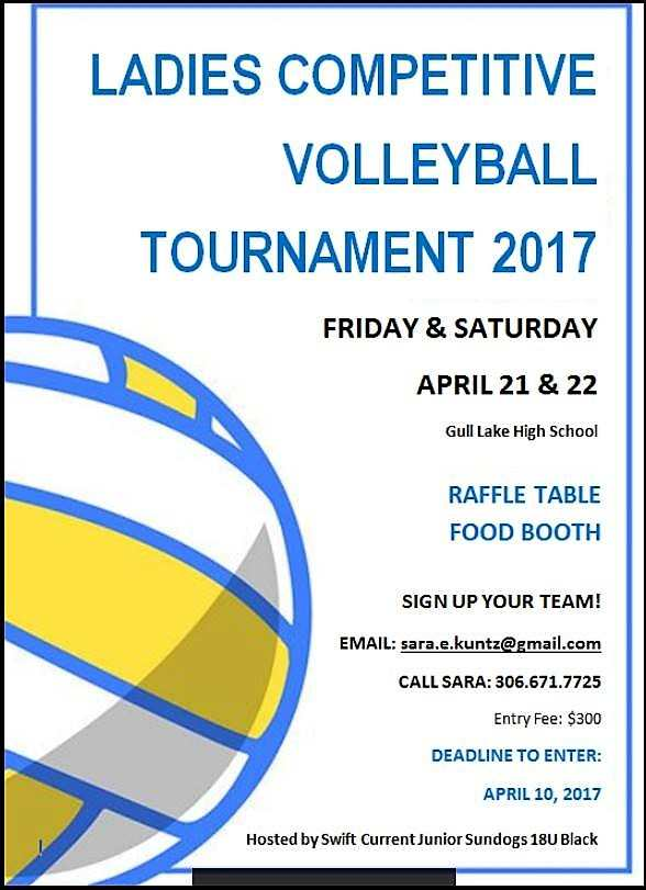 Ladies Competitive Volleyball Tournament 2017 GULL LAKE  Gull Lake School Events
