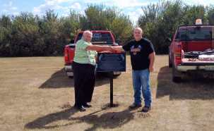 The Gull Lake Cemetery Potter's Field Memorial Plaque Installed Today GULL LAKE  Gull Lake Cemetery Committee Community