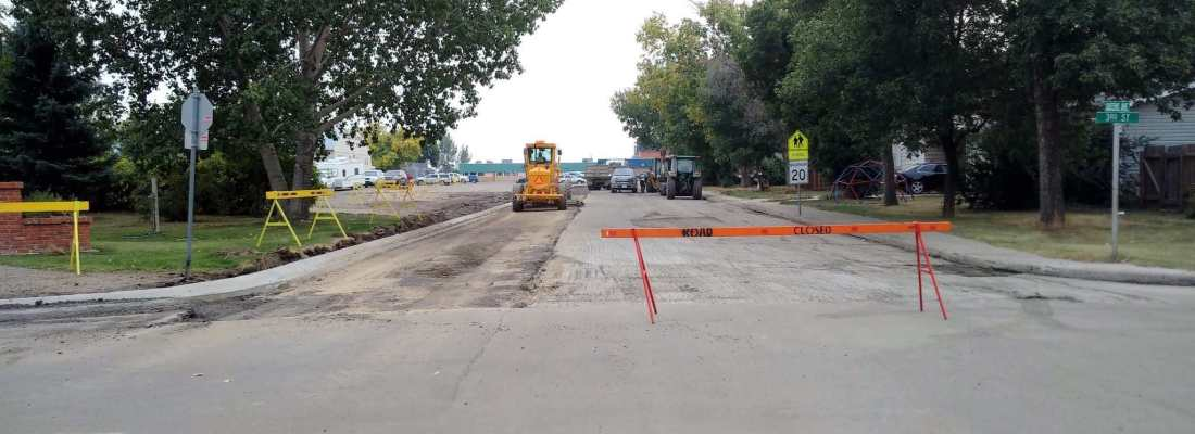 Paving Crews Completing Street Paving and Repairs GULL LAKE  Mayor's Report Infrastructure Community