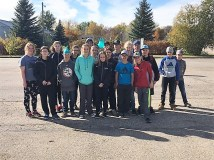 Grade 8 Students Help Out at the Skating Rink Education GULL LAKE  Volunteers Gull Lake School Gull Lake Recreation Complex Community