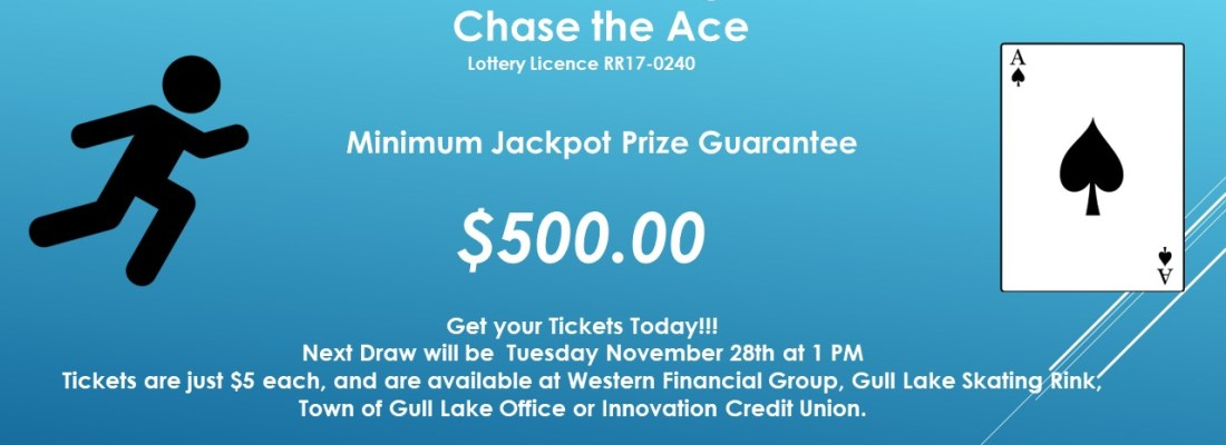 JIM OGLOFF WINS THIS WEEK'S CHASE THE ACE DRAW GULL LAKE  Gull Lake Recreation Complex Community