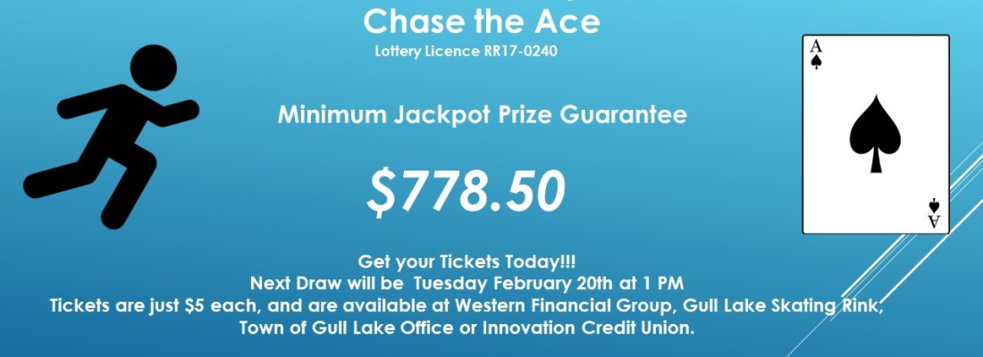 MERV HOLIZKI WINS THIS WEEK'S CHASE THE ACE DRAW GULL LAKE  Gull Lake Recreation Complex Community
