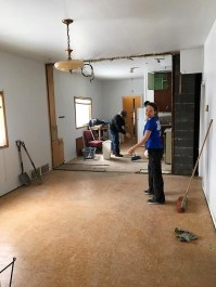 Volunteers Help With Funeral Home Renovations Economic Development GULL LAKE