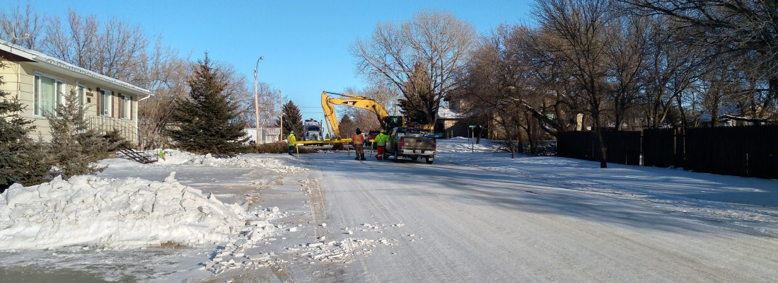 Water Main Break Located Repairs Underway GULL LAKE  Mayor's Report Infrastructure Community