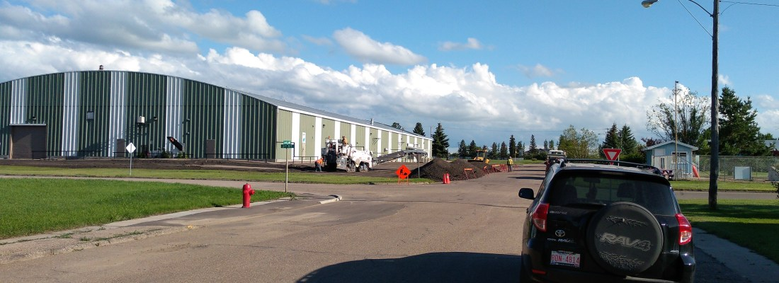 Recreation Complex Parking Lot Paving and Street Repairs Underway Government GULL LAKE  Town Council Mayor's Report Infrastructure