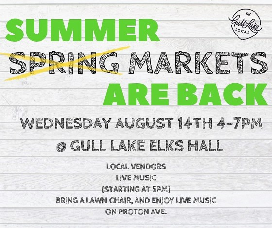 Summer Market at the Elks Hall GULL LAKE  Events Elks Hall Economic Development Committee