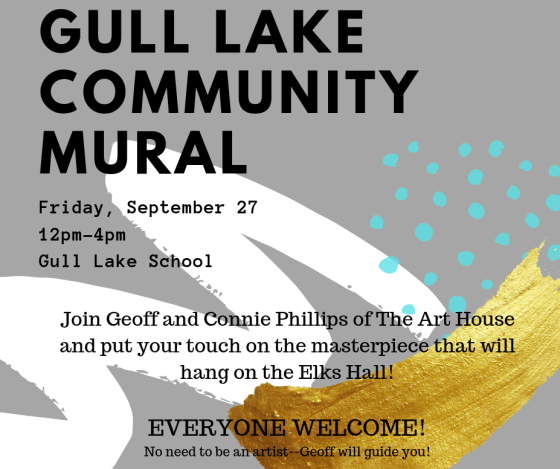 Gull Lake Community Mural GULL LAKE  Gull Lake School Elks Hall Community