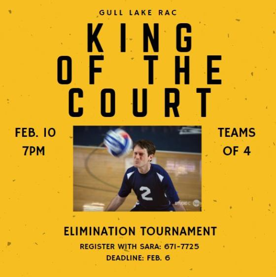 RAC King of the Court Tournament! GULL LAKE  Recreation Advisory Committee Events