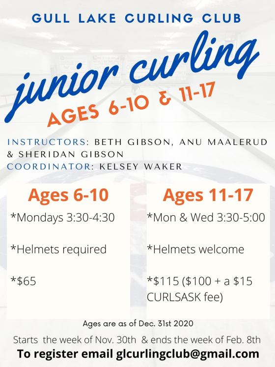 Gull Lake Curling Club Junior Curling GULL LAKE Health & Wellness  Gull Lake & District Curling Rink Community