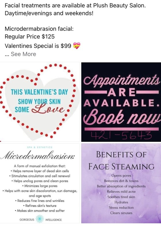 Need some Valentine Ideas for the love of your life,  visit Plush Beauty Salon Business GULL LAKE Health & Wellness SouthWest Saskatchewan  Small Business Plush Beauty Salon Events Community
