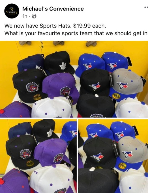 Hats For Sale at Michael's Convenience Store Business GULL LAKE SouthWest Saskatchewan  Small Business Michael's Convenience Store Community