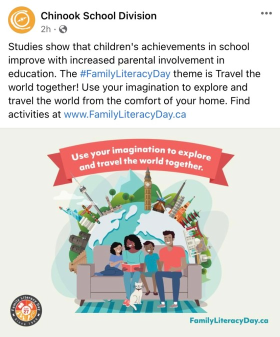 Family Literacy Day Education GULL LAKE SouthWest Saskatchewan  Saskatchewan Gull Lake School Events Community