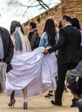 Bröllopsfoto pågår
