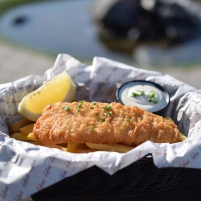 Fish´n chips från vår sommar restaurang
