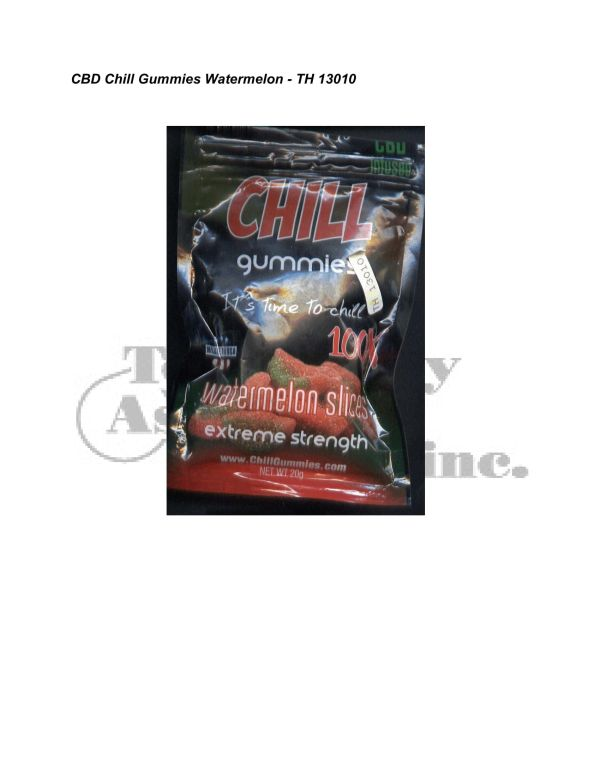 Synthetic Cannab. Analysis CBD Chill Gummies Watermelon TH 13010 5 24 08 Revised 3 11