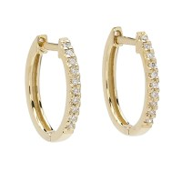 Elizabeth Showers Gold & Diamond Huggie Hoop Earrings