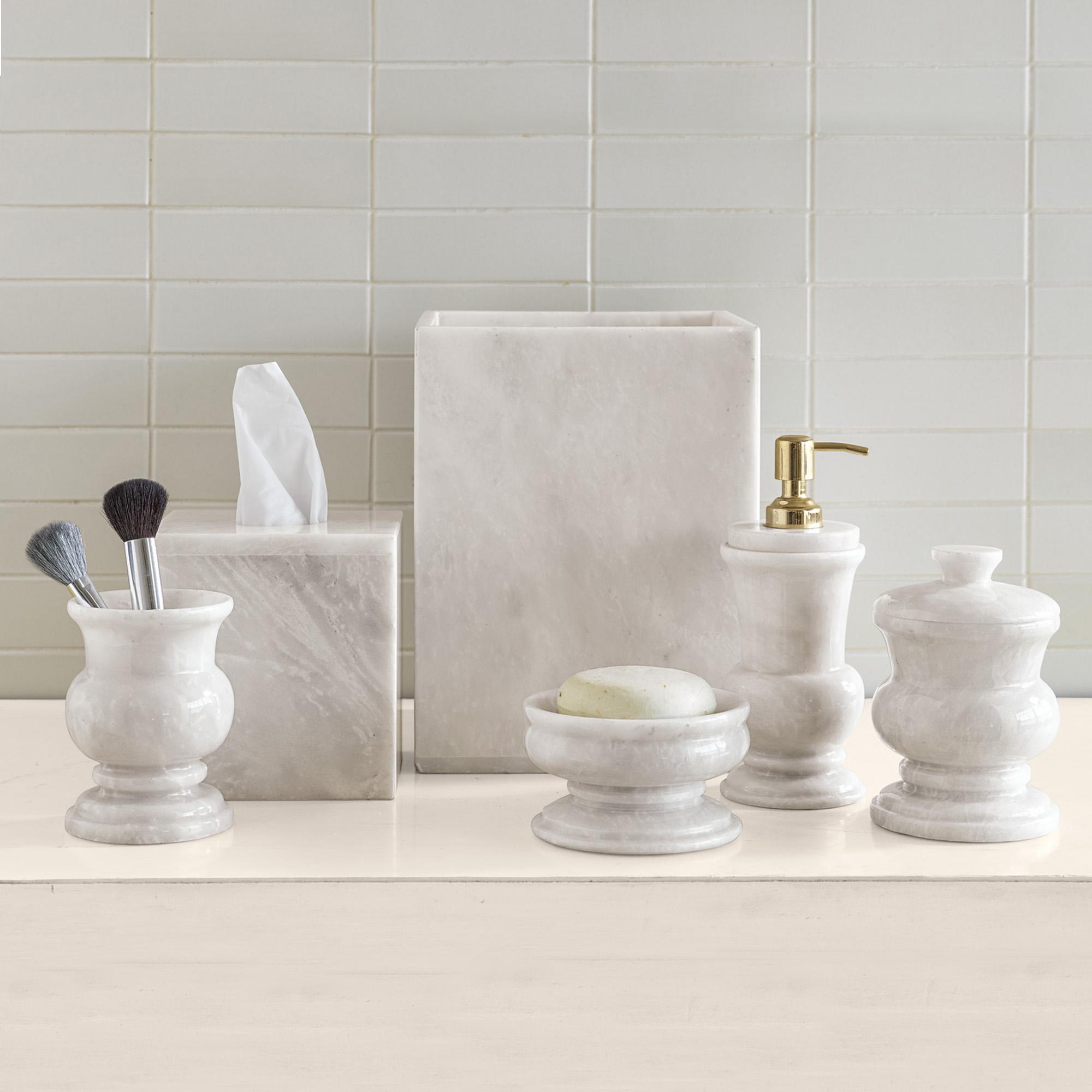 White Marble Bathroom Accessories