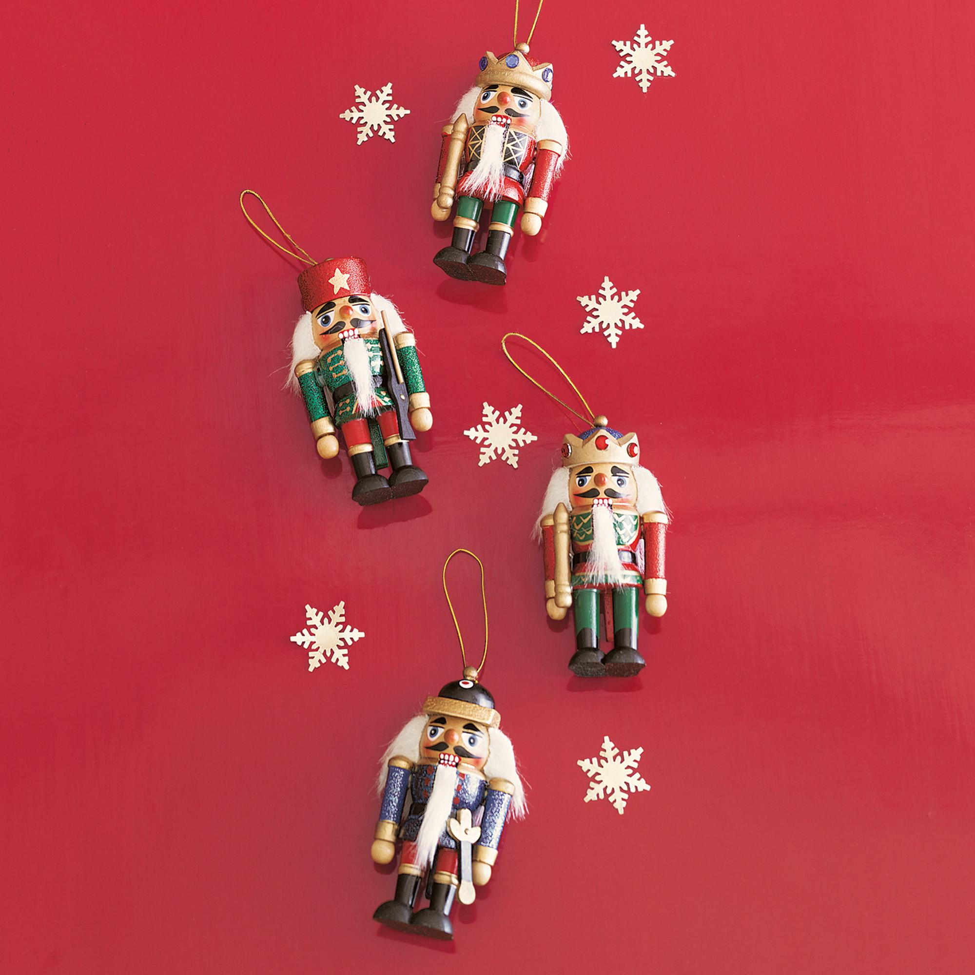Wooden Nutcracker Ornaments