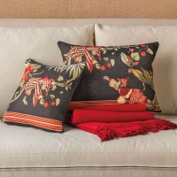 Black Chinoiserie Monkey Pillows | Gump's