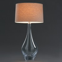 Simon Pearce Glass Warren Lamp | Gump's