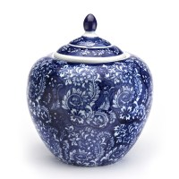 Blue & White Flora Ginger Jar | Gump's