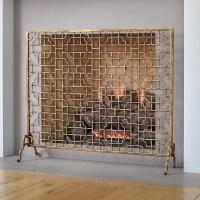 Gold Fretwork Fireplace Screen | Gump's