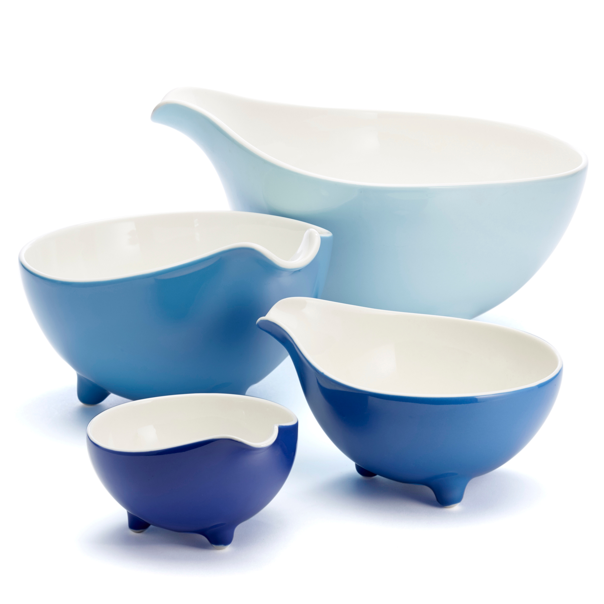 kitchen cups and plates automatic faucet loveramics blue paisley bowls set of 4 gump 39s