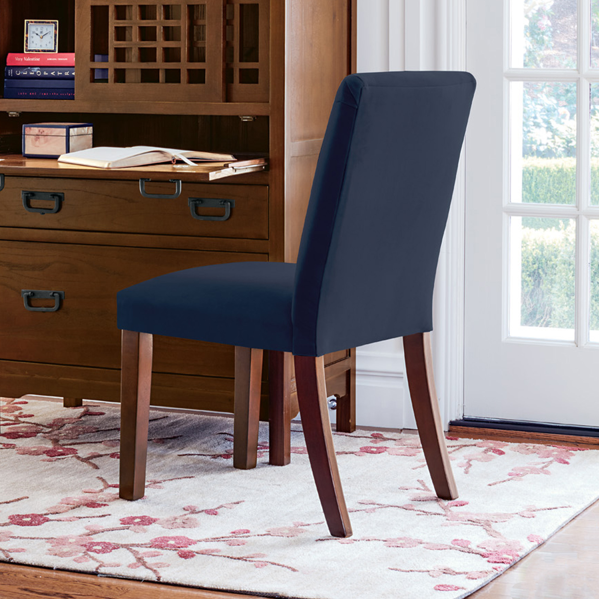 Blue Parsons Chair Parsons Navy Blue Side Chair Gump 39s