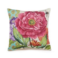 Sunroom Pink Peony Outdoor Pillow | Gump's